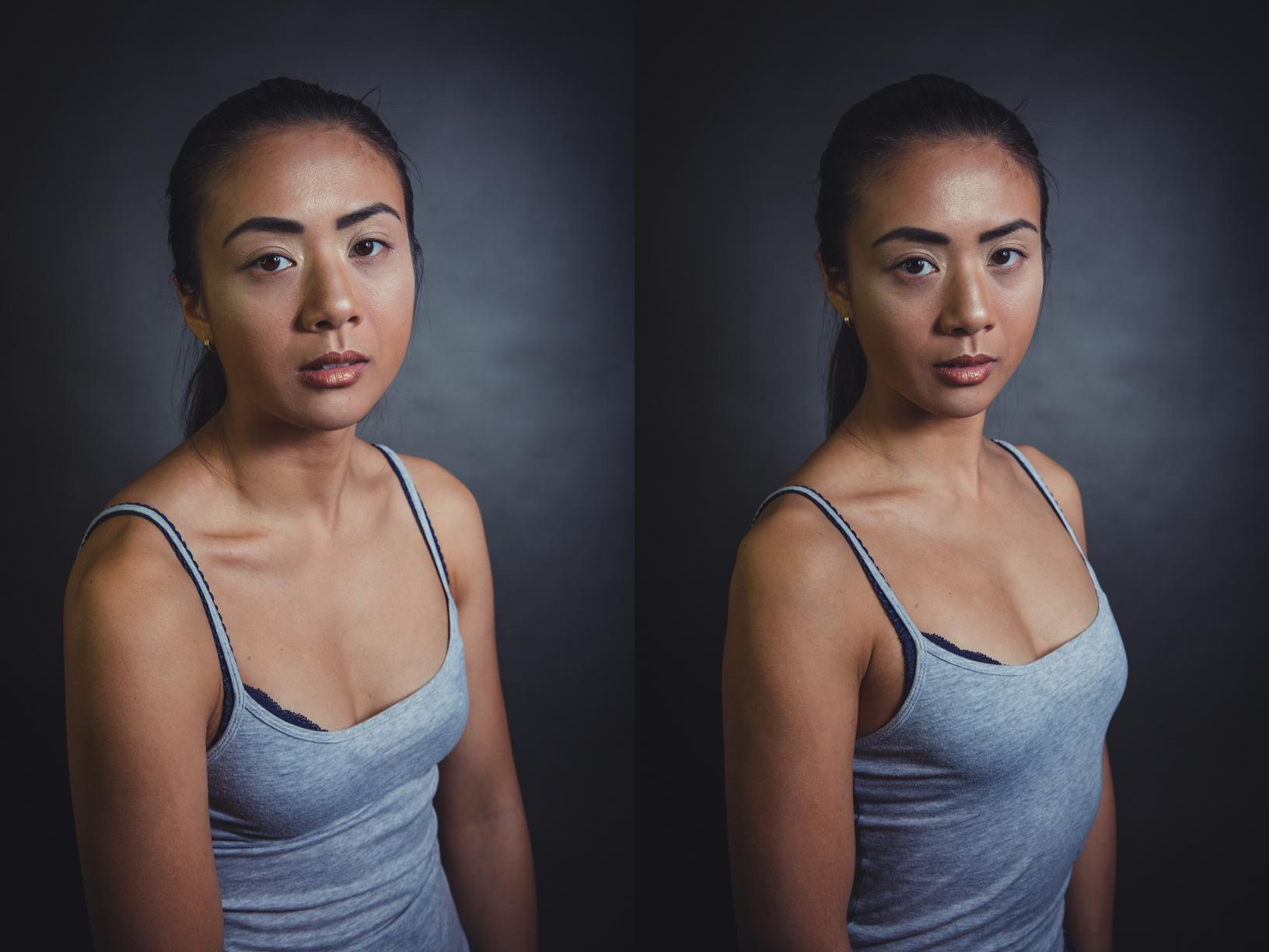 Frau breite schultern Figurtypen bei
