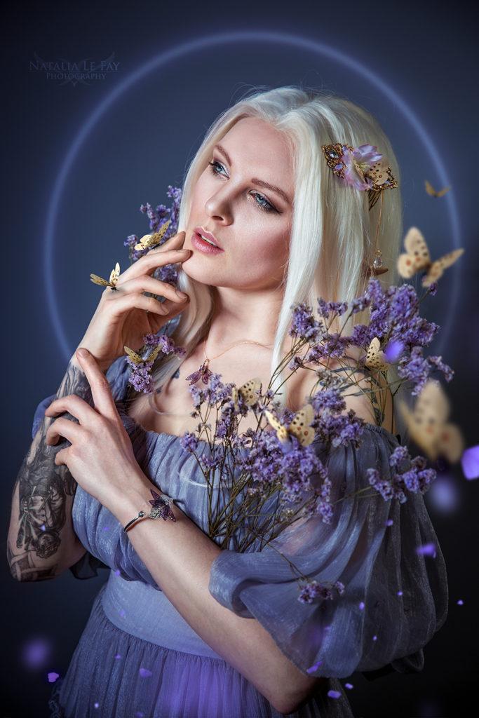 Schmetterlinge Fantasy Fotoshooting Flieder