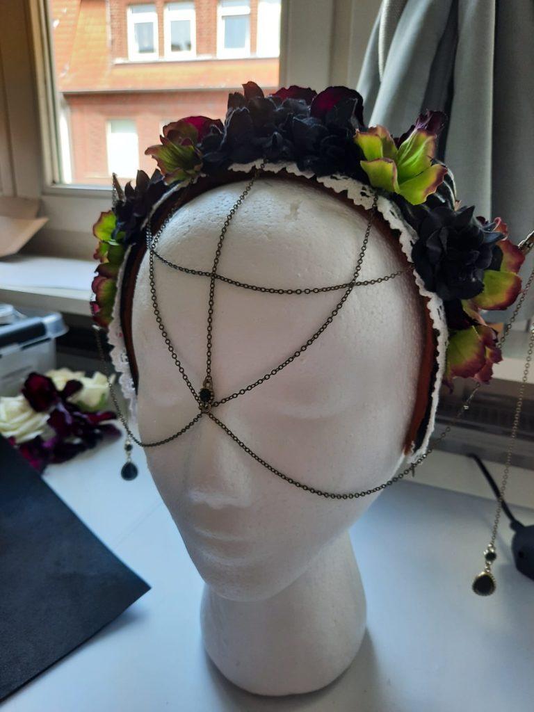 Blumen Headpiece Hörner DIY basteln Kopfschmuck