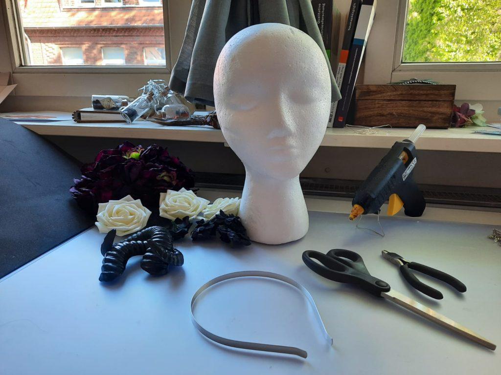 Blumen Headpiece Kopfschmuck basteln DIY