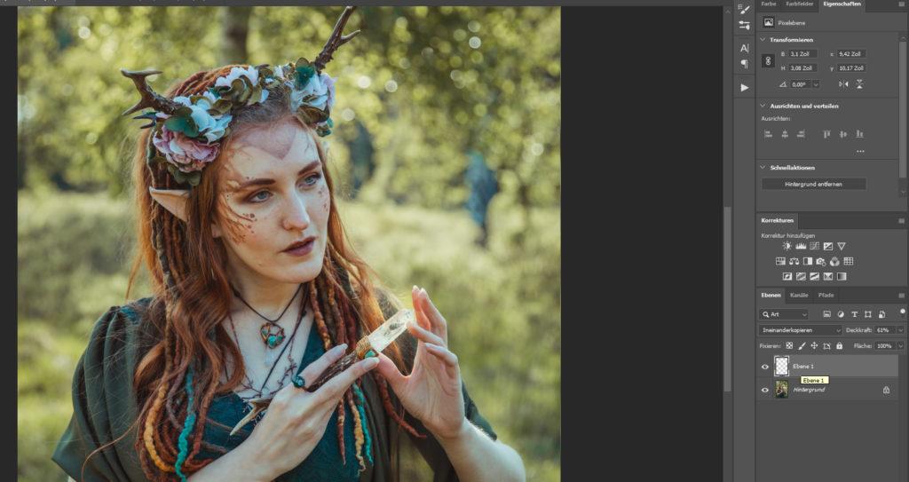 Ineinanderkopieren Photoshop Elfe Magie