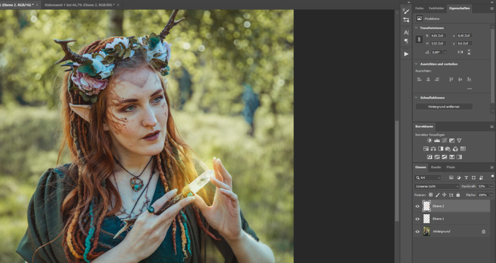 Lineares Licht Photoshop Elfe Magie