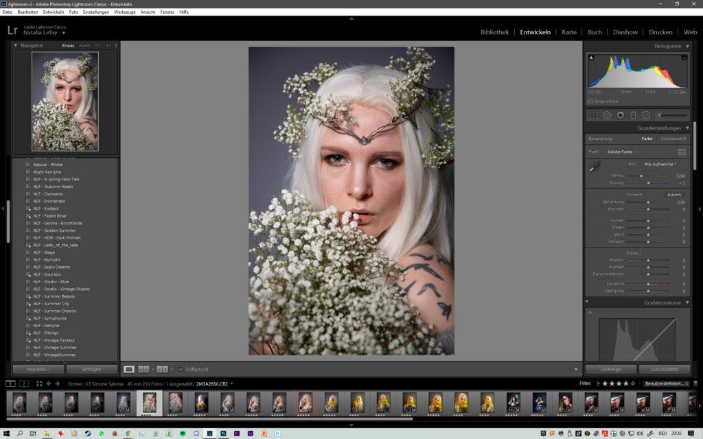 Lightroom Farb Looks Natalia Le Fay Fantasy Fotoshooting Fotografie